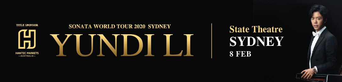 YUNDI LI SONATA WORLD TOUR 2020 SYDNEY
